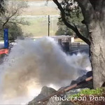 Gloria and I went to see the water works at the outlet of Anderson dam... amazing... the ground shook.